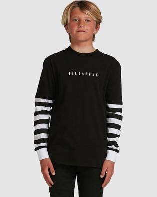 Billabong Boys Maze Long Sleeve Tee T-Shirts BLACK