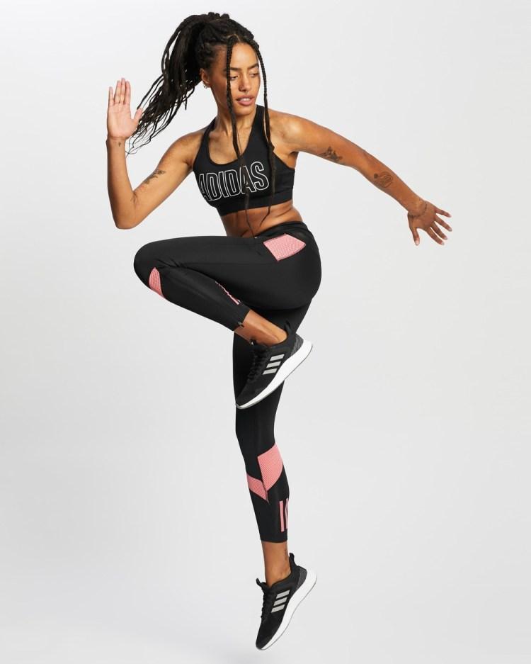 adidas Performance Own The Run Tights 7/8 Black & Hazy Rose