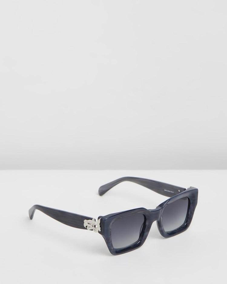 Amber Sceats Sofia Glasses Square Grey