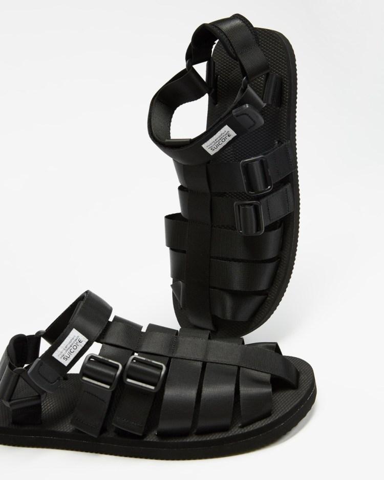Suicoke SHACO Sandals Unisex Casual Shoes Black