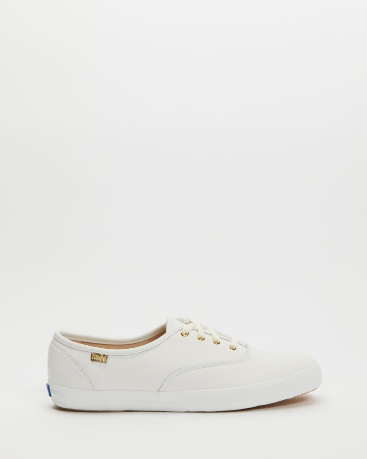 Keds Champion Luxe Leather Sneakers White