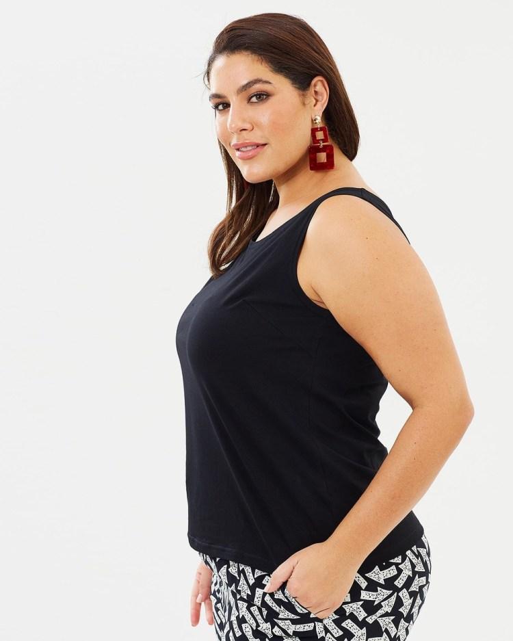 Advocado Plus Essential Short Cami Tops Black