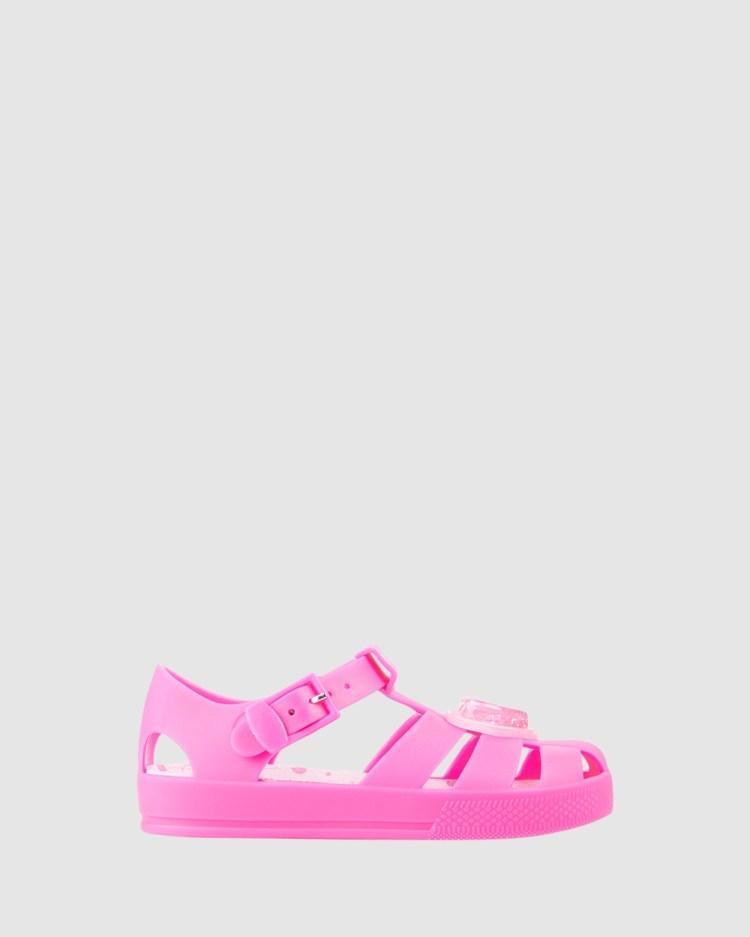 Kicks Kiddo Heart Jellies Sandals Bright Pink