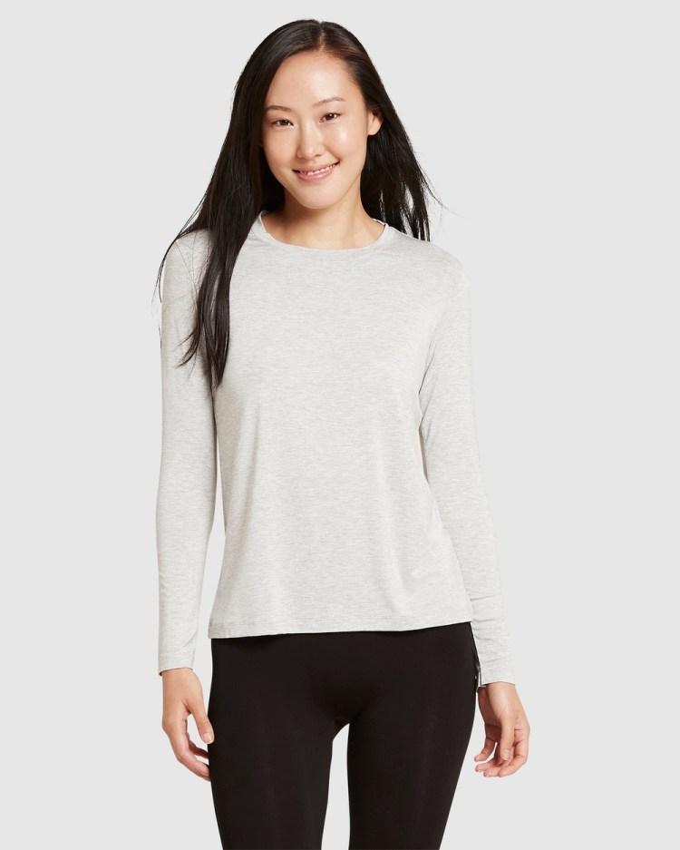 Boody Organic Bamboo Eco Wear 2 Pack Long Sleeve T Shirt T-Shirts Multi T-Shirt