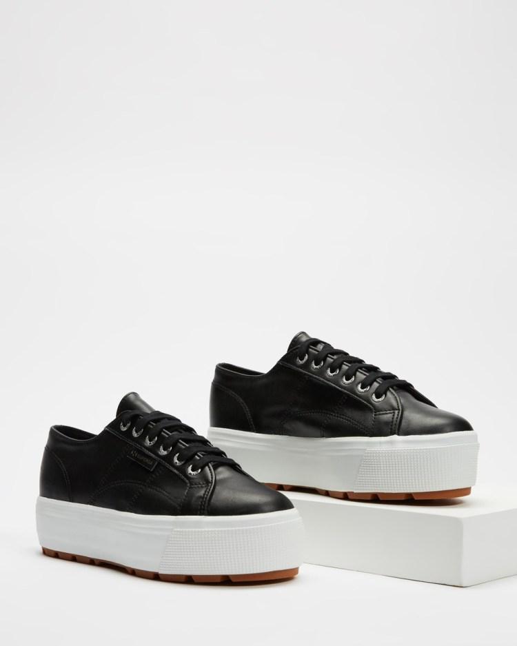 Superga 2790 Tank Nappa Womens Sneakers Black