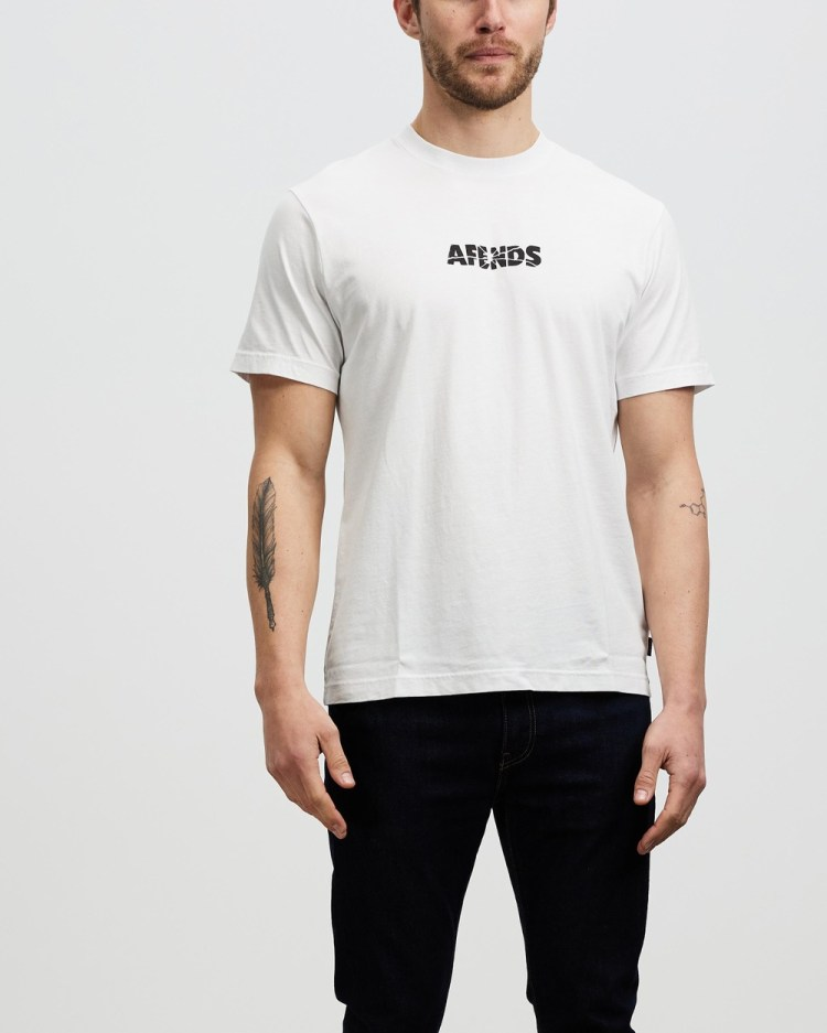 Afends Noise Retro Fit Tee T-Shirts & Singlets White