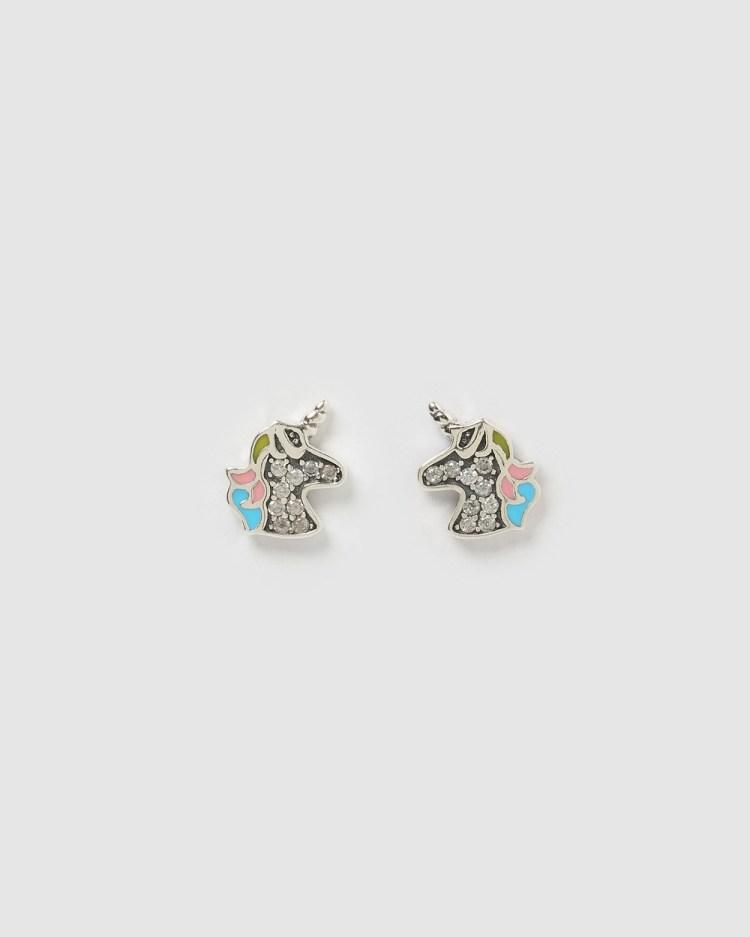 Izoa Kids Tiffany Stud Earrings Jewellery Silver