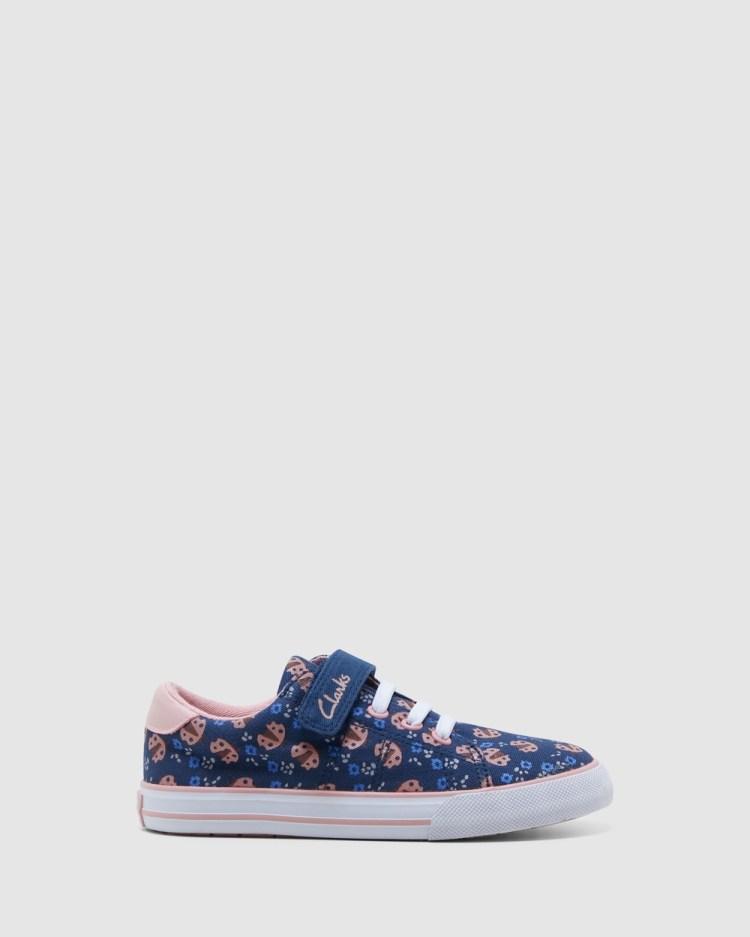 Clarks Leah Sneakers Navy/Musk Ladybug