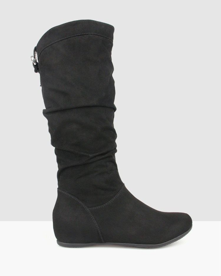 Betts Oxley Wedge Boots Black