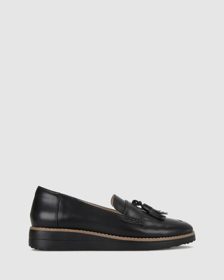 Airflex Dori Leather Loafers Flats Black