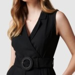 Forever New - Polly Wrap Belted Playsuit - Dresses (Black) Polly Wrap Belted Playsuit