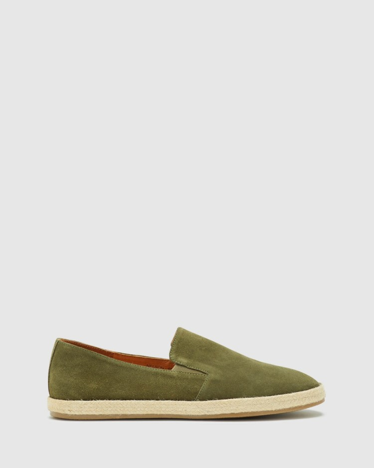 Oxford Nelson Suede Espadrille Shoe Casual Shoes Green