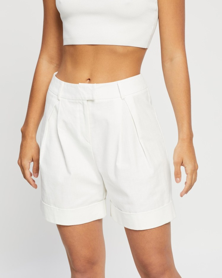 4th & Reckless Ameline Shorts High-Waisted White