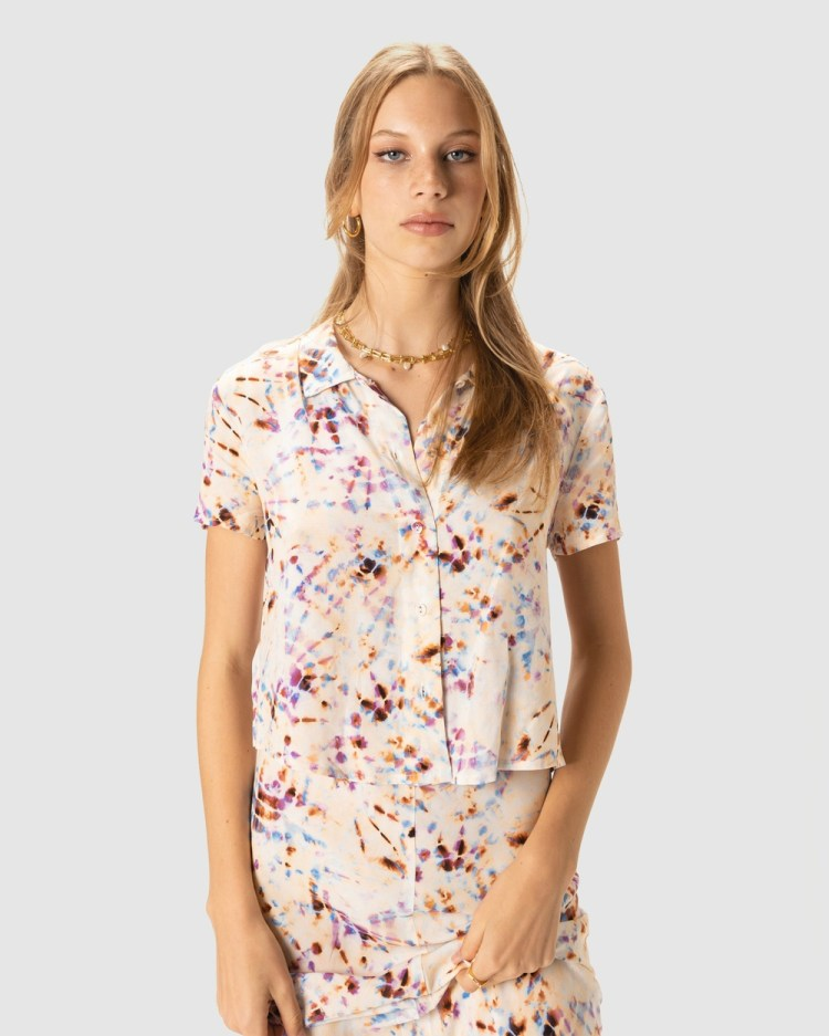 Cools Club Charlie Shirt Tops Tie Dye