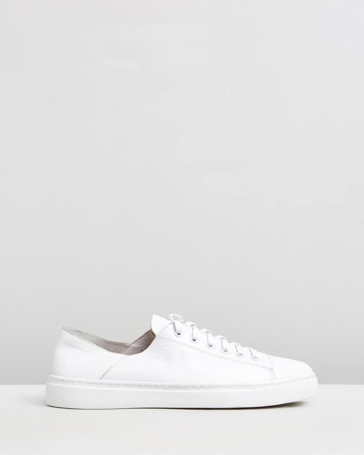 Mollini Oskher Leather Sneakers White