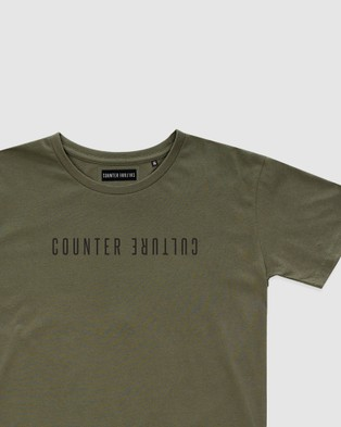 Counter Culture Atlas Tee Teens T-Shirts & Singlets OLIVE