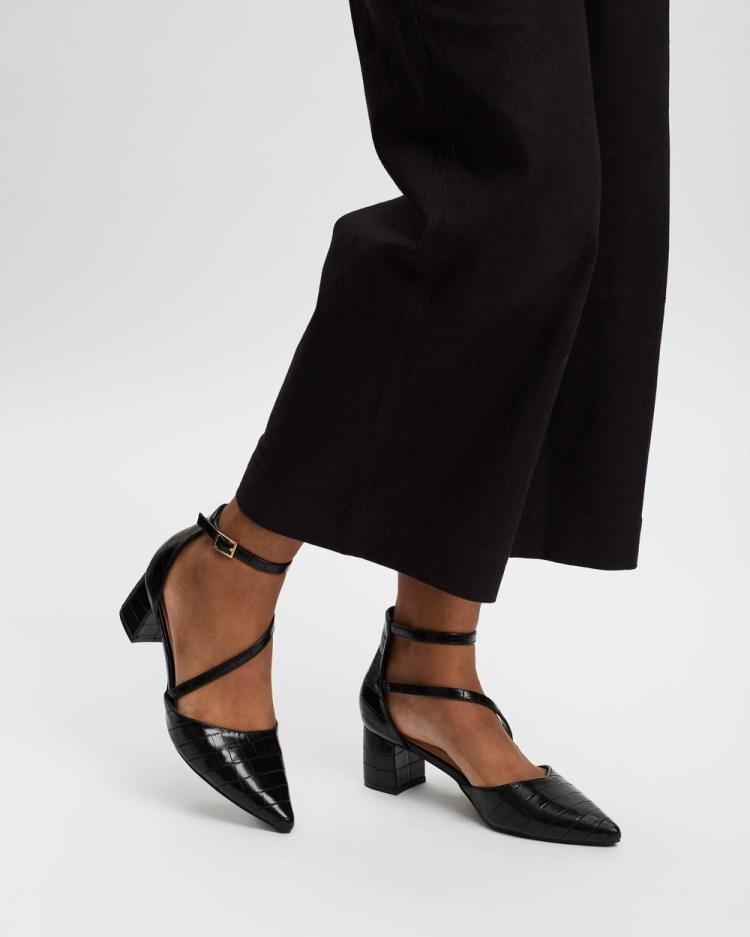 SPURR Hansel Heels All Pumps Black Croc