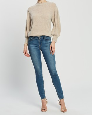 Atmos&Here - Leila Puff Sleeve Knit Top - Jumpers & Cardigans (Oatmeal) Leila Puff Sleeve Knit Top
