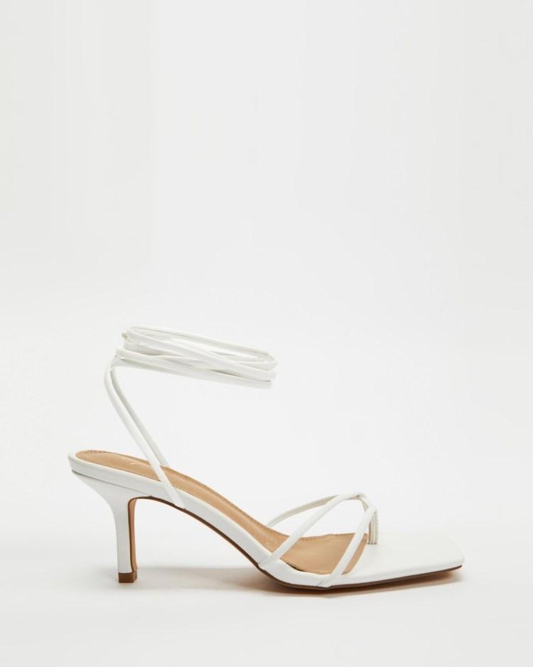 SPURR Isobel Heels Sandals White Smooth