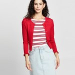 Review - Evie Mae Cardi - Jumpers & Cardigans (Red) Evie Mae Cardi