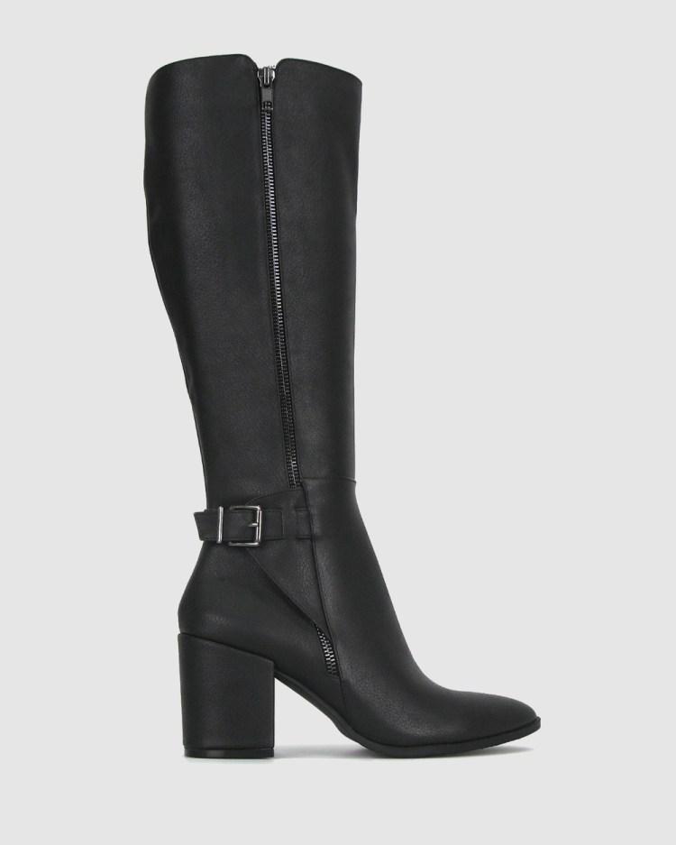 Zeroe Crest Knee High Dress Boots Knee-High Black