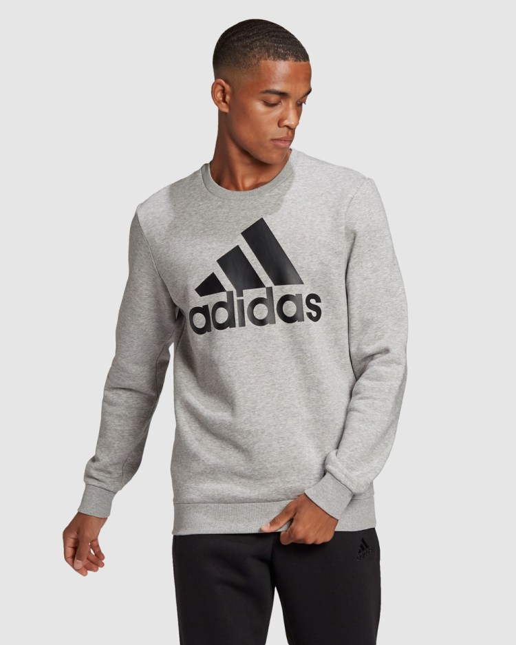 adidas Performance Essentials Fleece Tapered Cuff Logo Pants Black