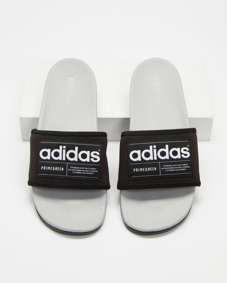 adidas Performance Adilette Eco Unisex Slides Core Black, White, Grey Two