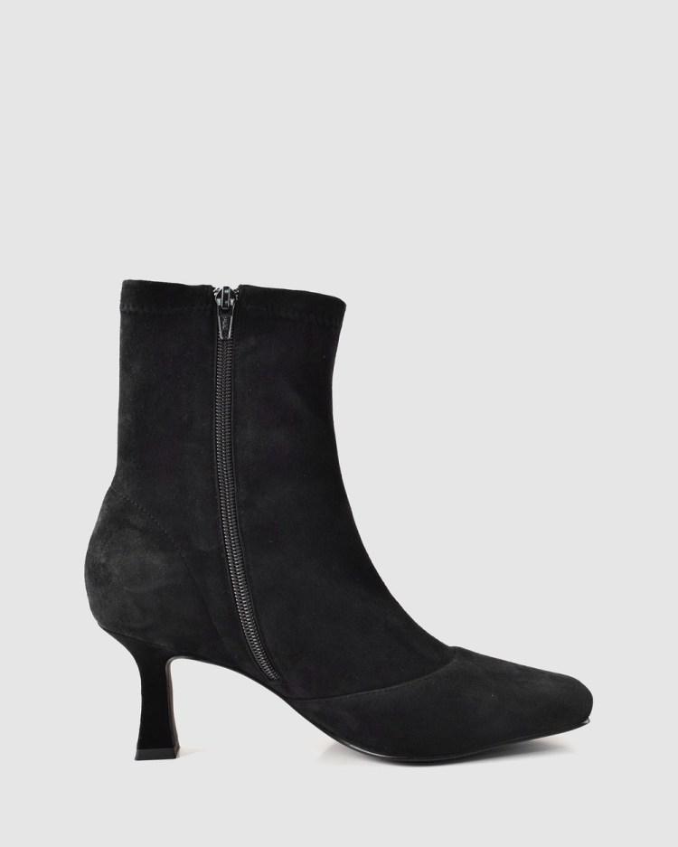 Sol Sana Aria Boots Dress Black Suede