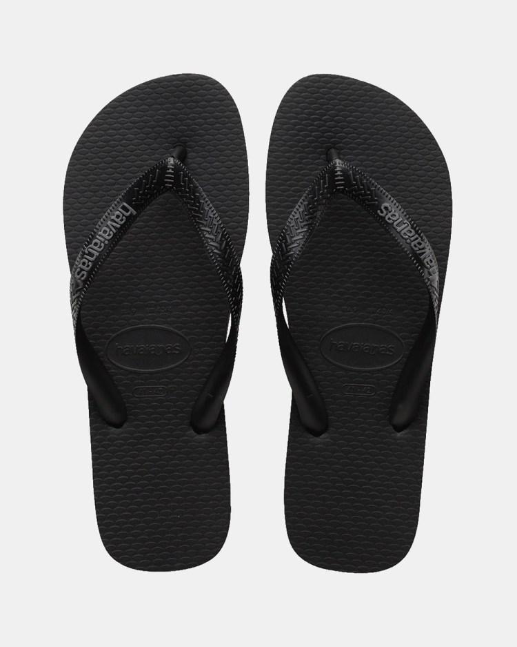 Havaianas Top Rubber Logo Unisex All thongs Black & Steel Grey