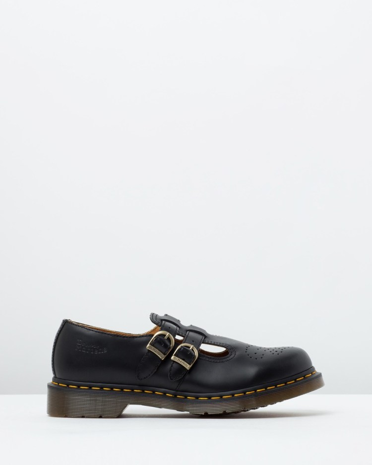 Dr Martens Womens 8065 Mary Jane Shoes Flats Black Smooth