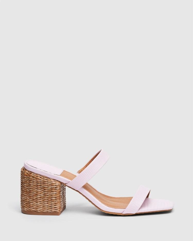cherrichella Whisper Mules Heels Pink