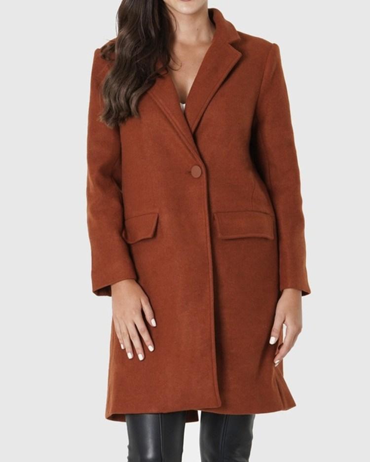 Amelius Archer Coat Coats & Jackets Rust