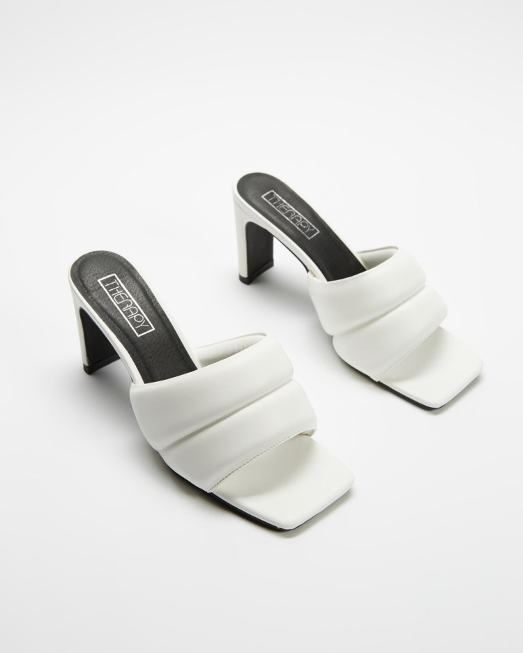 Therapy Cat Heels Sandals White PU