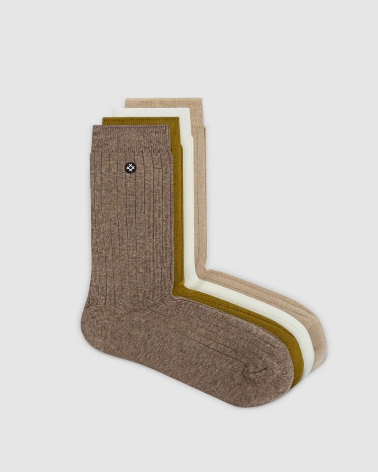 Sockdaily Ash 4 Pack Quarter Socks Shoes Multi