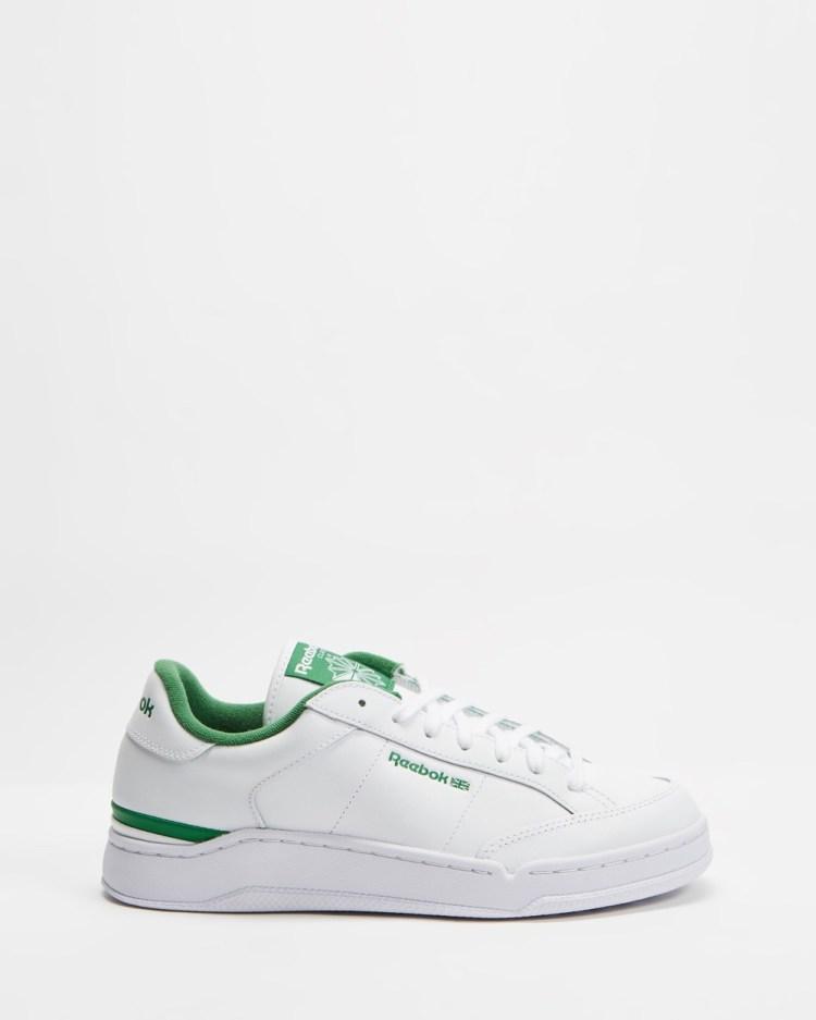Reebok Ad Court Unisex Low Top Sneakers White, Glen Green & White