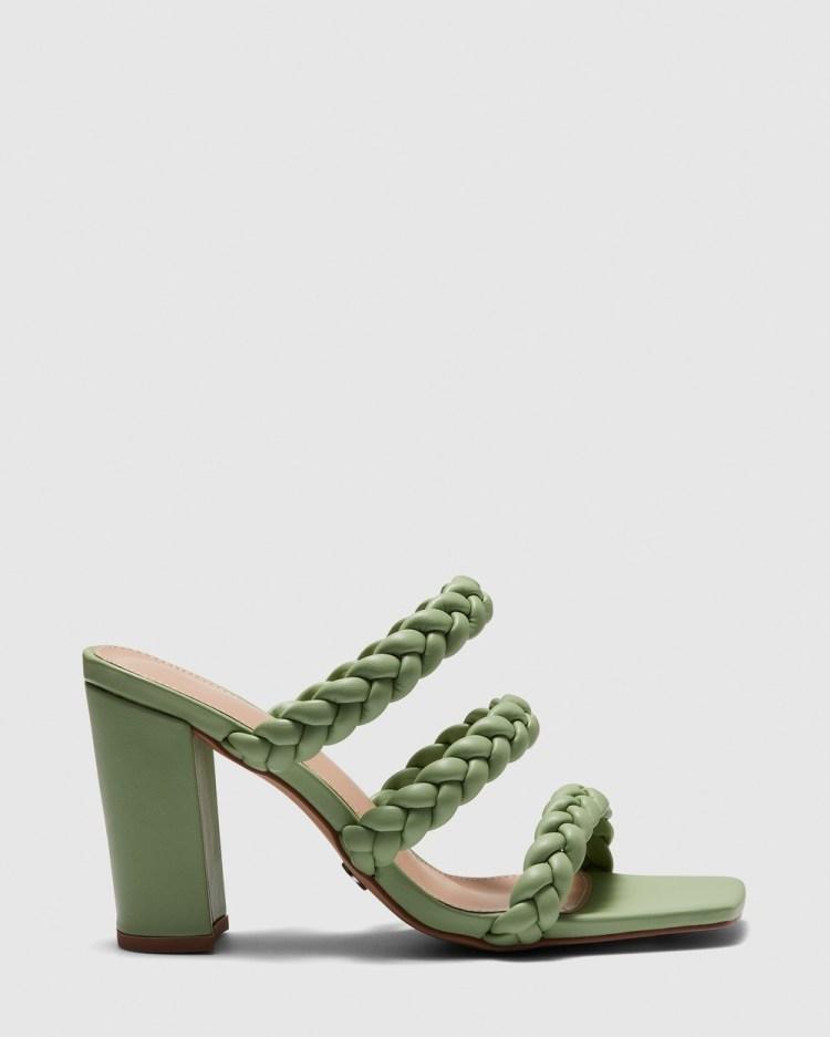 Novo Zave Mules Heels Green