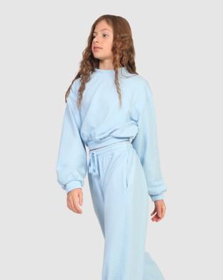 Gelati Jeans Kids Payton Crop Sweat Sweats Pale Blue