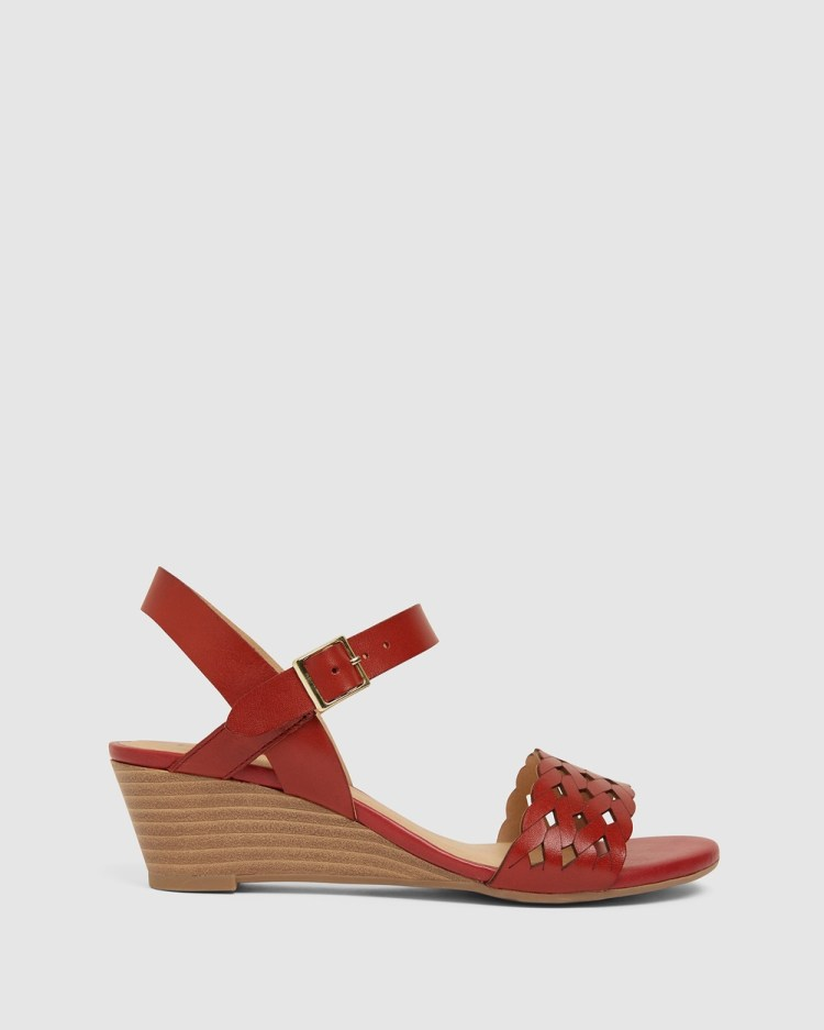 Easy Steps Callum Wedges Red