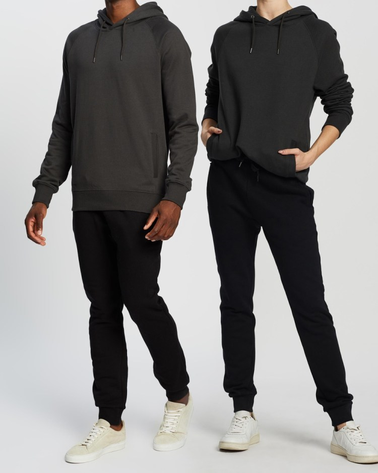 AERE Organic Cotton Hooded Sweat Hoodies Black