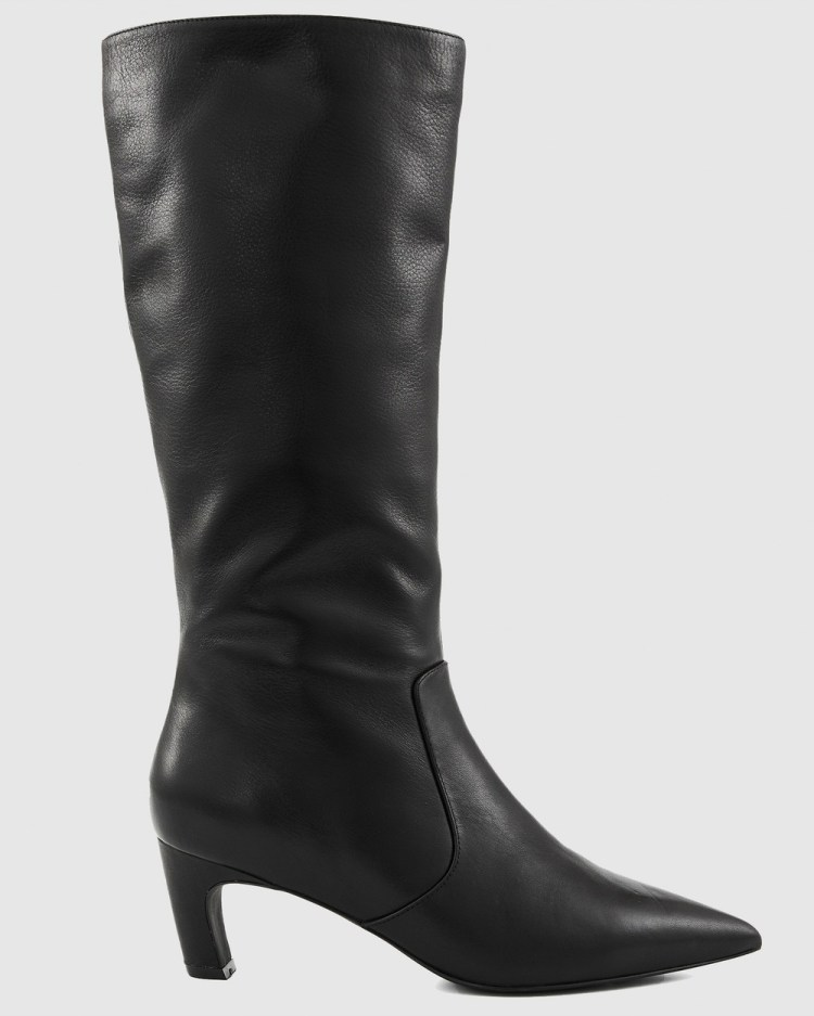 Nakedvice The Willow Nappa Boot Knee-High Boots Black