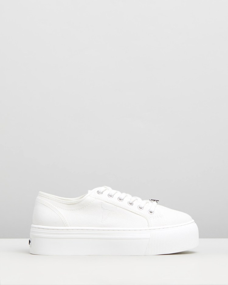 Windsor Smith Ruby Sneakers White Canvas