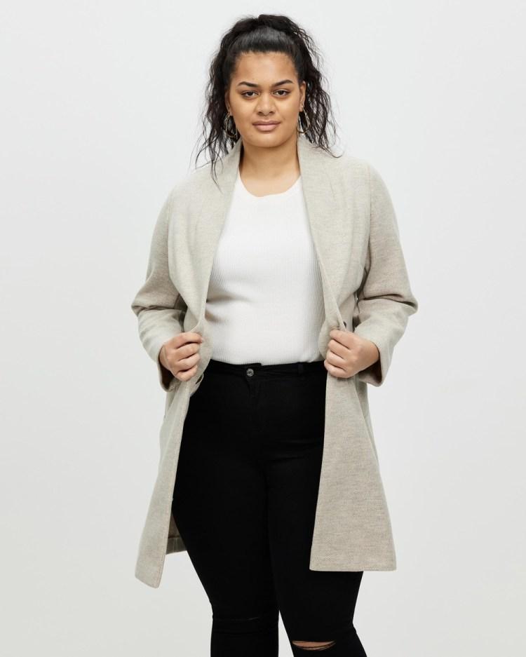 DP Curve Oatmeal Unlined Coat Coats & Jackets Taupe Beige