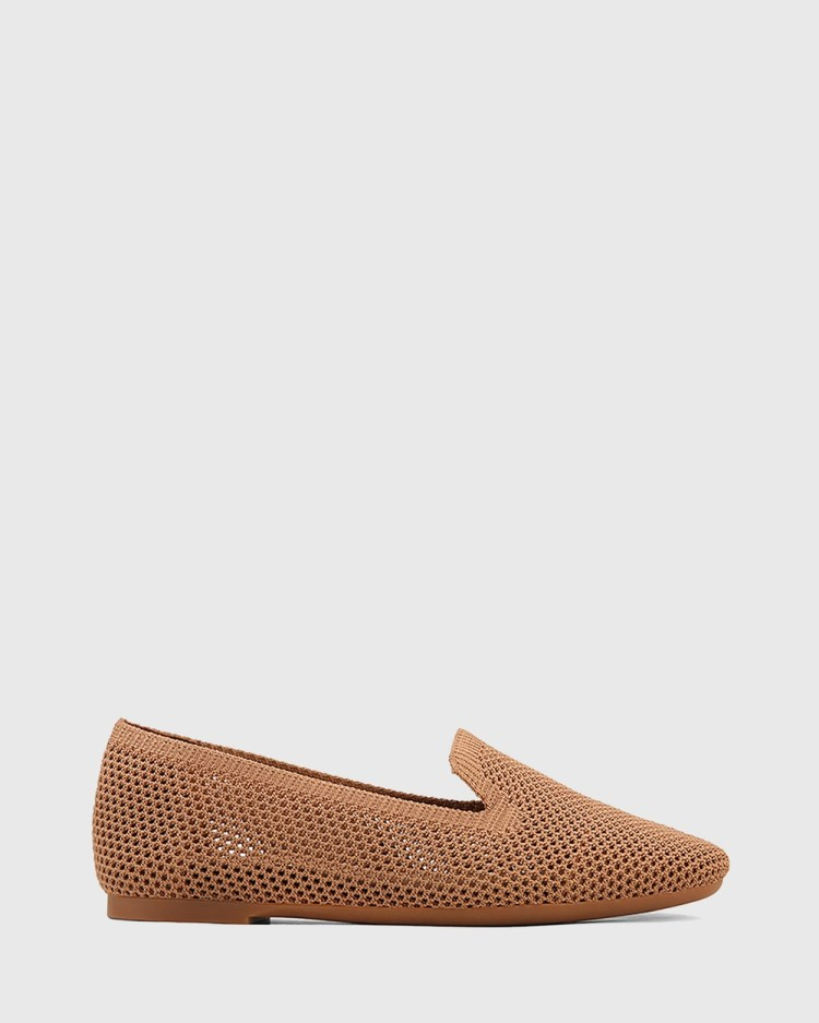 Wittner Ambition Recycled Flyknit Loafers Flats Tan