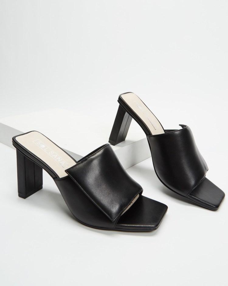 Sol Sana Holden Mules Heels Black