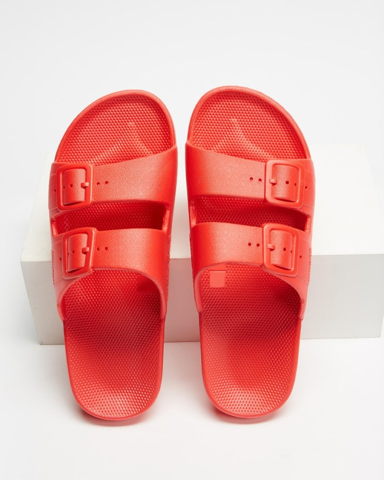 Freedom Moses Slides Unisex Casual Shoes Red