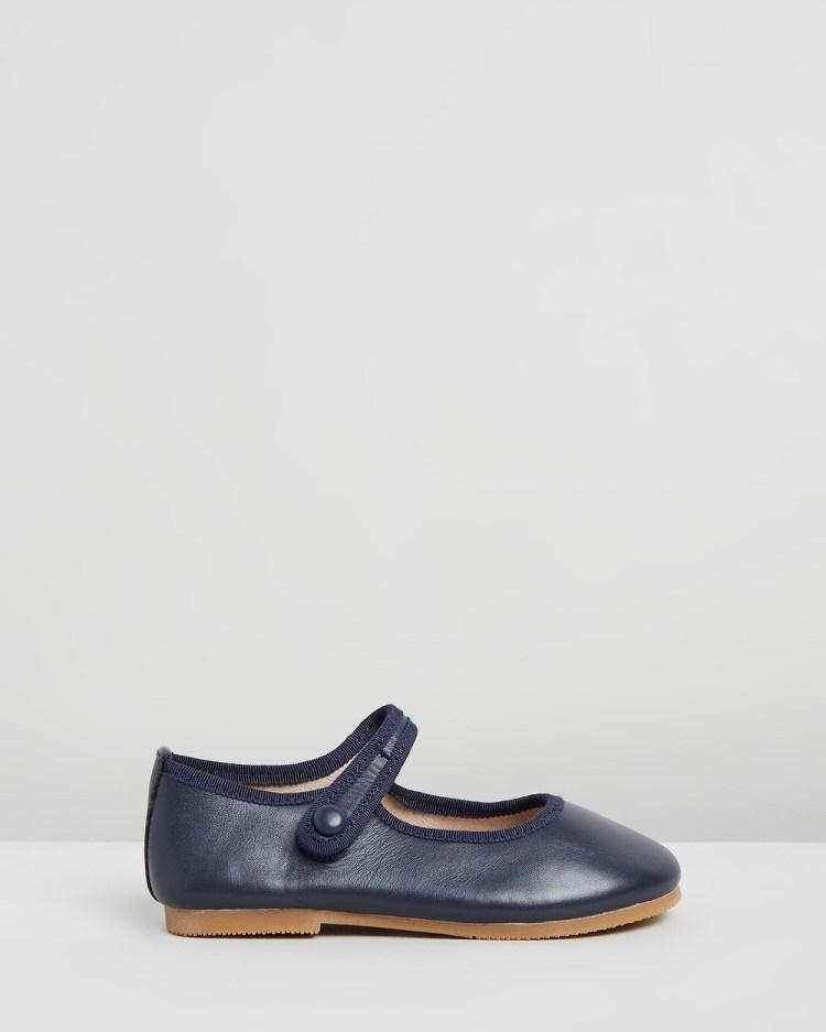 Little Fox Shoes Angel Ballet Flats Navy