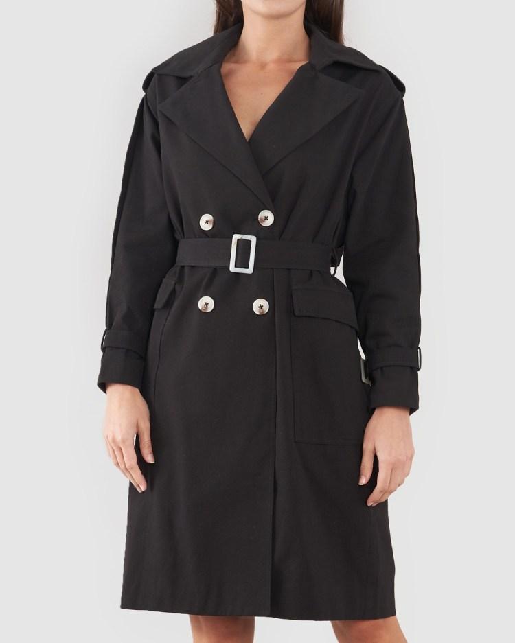 Amelius Arwen Trench Coats Black