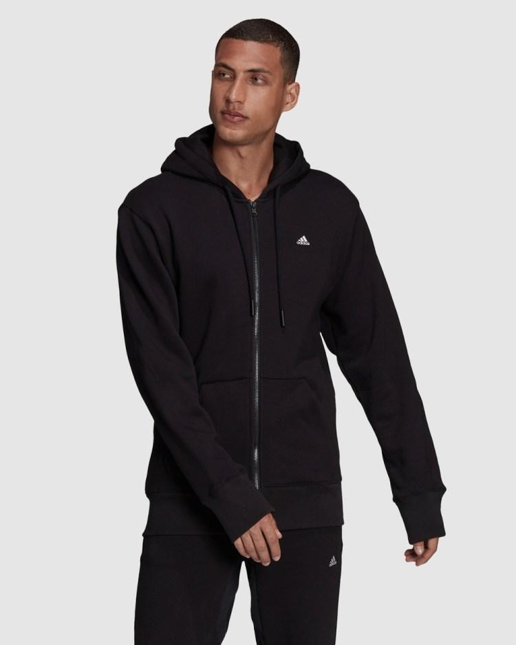 adidas Performance Sportswear Comfy & Chill Full Zip Hoodie Hoodies Black