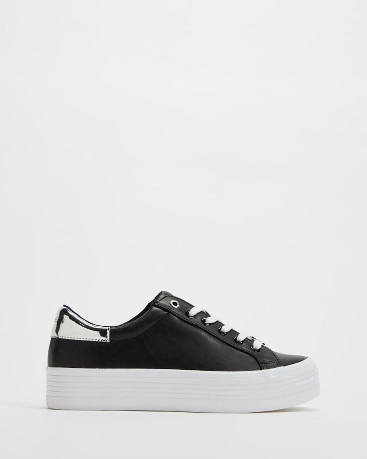 Calvin Klein Jeans Vulcanised Flatform Sneakers Women's Black