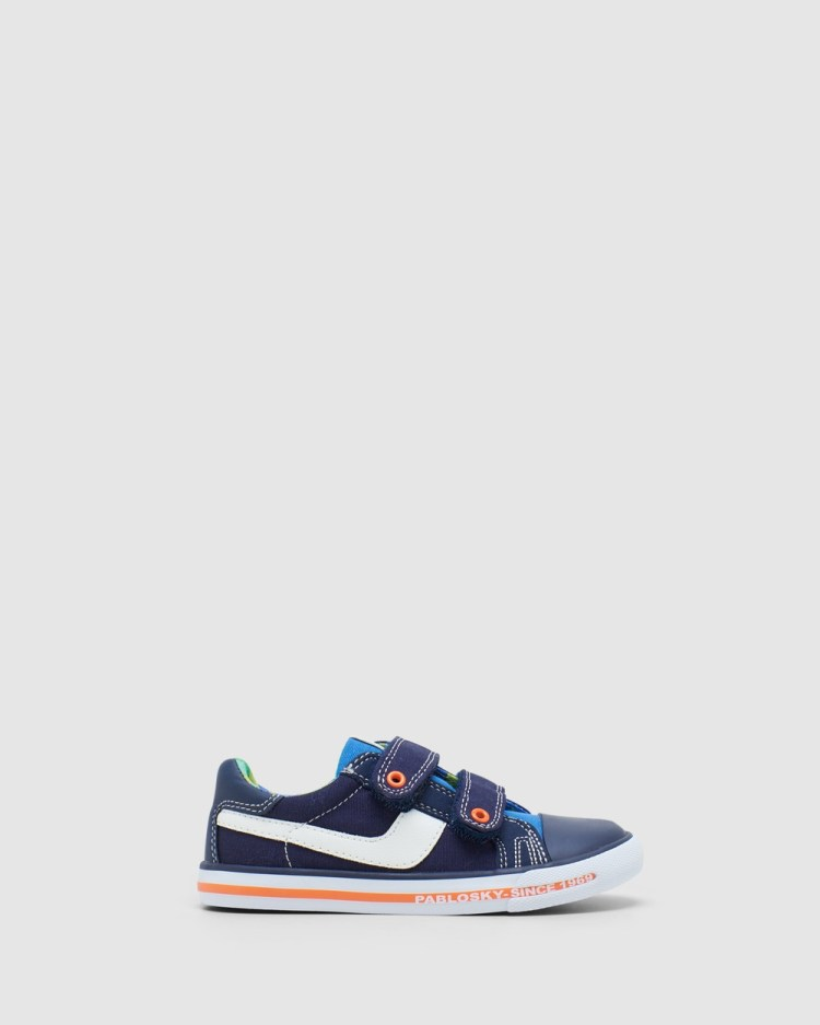 Pablosky Multi Canvas 9621 Youth Sneakers Navy Multi